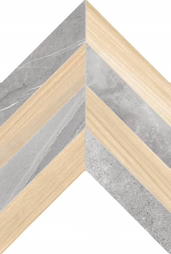 Pločice | Loft Gray Ladin Almond Motif- Seramiksan - 40x60 - 1.12